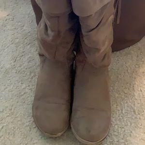 Light Brown Knee High Boots
